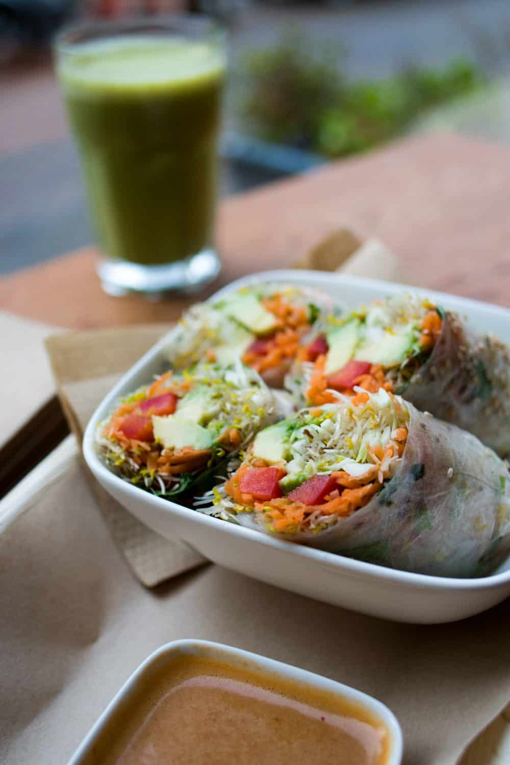 Vegabond Summer Rolls with Peanut Sauce